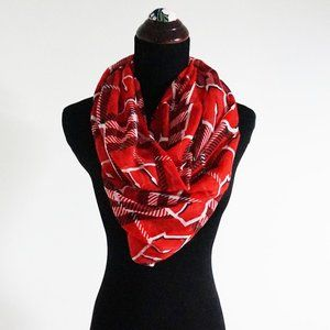 Wisconsin Badgers Plaid Infinity Scarf